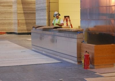 Custom Stainless Reception Desk