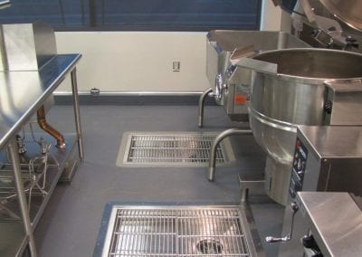 Custom Stainless Floor Troughs with Grating