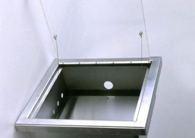 Cleanroom Tile Access Door with Gas Box