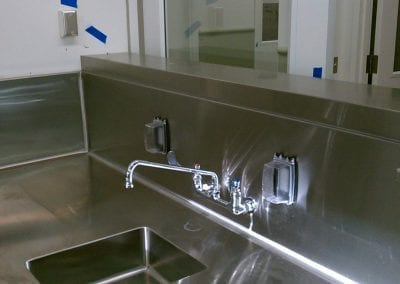 Custom Commercial Sink Table