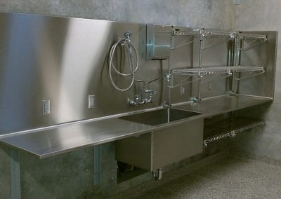 Custom Stainless Veterinary Sink and Counter