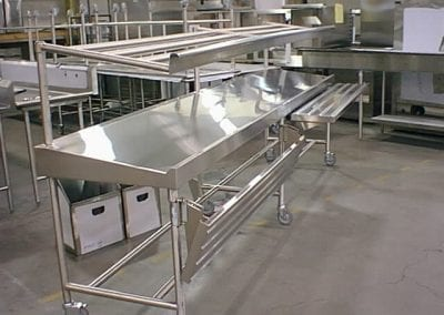 Rolling Serving Counter with Fold Down Tray Slides